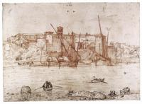 Pieter Bruegel the Elder, View of the Ripa Grande in Rome, ca. 1552-54, The Duke of Devonshire and the Chatsworth Settlement Trustees, Chatsworth